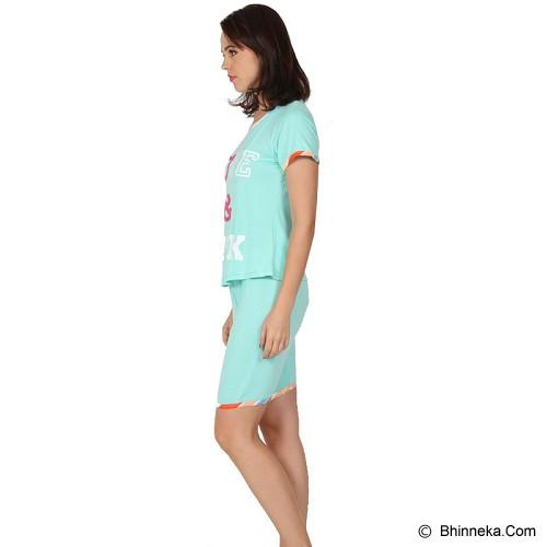 YOU'VE Pinku Love Sleepwear set Size L [841] - Mint - Baju Tidur Wanita Setelan